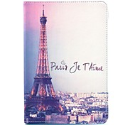 COCO FUN® Word Effiel Tower Pattern PU Leather Flip Stand Case with Film and Stylus for Apple iPad mini 1/2/3