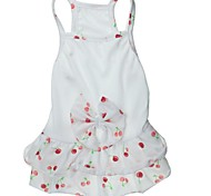 Lovely Cherry Pattern 100% Cotton Dress for Dogs (XS-L)