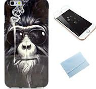Orang-Utan-Muster-TPU weich rückseitige Abdeckung mit Folie für iphone 6 Plus