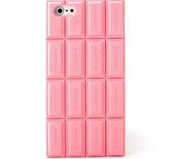 Pink Silicone Chocolate Skin Case Cover Compatible With iPhone 5/5S