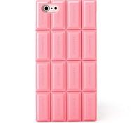 rosa Silikonschokoladenhaut-Kastenabdeckung mit iphone 5/5 s kompatibel