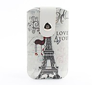 Eiffel Tower Pattern Pouch Bag Case with Metal Buckle and Belt Clip for iPhone 6