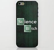 Green Background English Pattern hard Case for iPhone 6