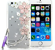 HOHONG ® Phone 6 Bling Cases Cover Rhinestones Pink Sakura Tassel Crystal Case for iPhone 6 4.7""