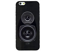 A Black Speaker Pattern TPU Soft Back Cover Case for iPhone 6