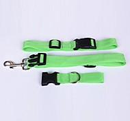 Cat / Dog Collar Adjustable/Retractable / Running / Hands free Red / White / Green / Pink / Purple Nylon