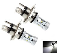 2Pcs H4 30W 6x CREE XB-D R3 1200LM 6000K White Light LED for Car Headlamp (DC 10-30V)