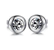 ms aaa zircone circolare titanio orecchini in acciaio