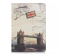 9,7 pouces deux modèle pliage london bridge pu étui en cuir pour iPad 2 l'air