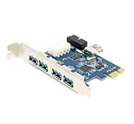 USB 3.0 PCI-E PCI 7Port 5Gbps Super Speed Express Card Adapter 5Port + 20 Pin Controller