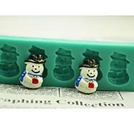 Рождественский снеговик подарок помадкой торт шоколадный силиконовые формы торт украшение инструменты, l12 * W4 * h1.3cm