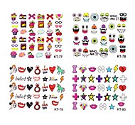 4Pcs Different Styles 2014 Newest 3D Cartoon Nail Art Decal Stickers