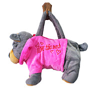 Gray Dog Design Plush Toys Soft Hand Bag(Random Color)