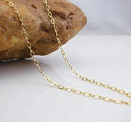 Jewelry Chain Necklaces Wedding / Party / Daily / Casual / Sports Copper Women Gold Wedding Gifts