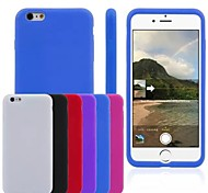 Silica Gel Soft Back Cover Case for iPhone 6S Plus/6 Plus (Assorted Colors)