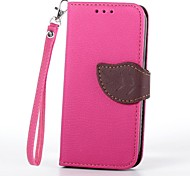 For Samsung Galaxy Case Wallet / Card Holder / with Stand / Flip Case Full Body Case Solid Color PU Leather Samsung S4 Mini