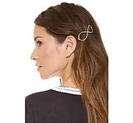 shixin® vintage Nummer 8 Metallspangen für Frauen (Golden) (1 Stück)
