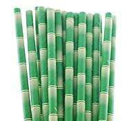 Creative Bamboo Paper Drinking Straws (25 PCS)