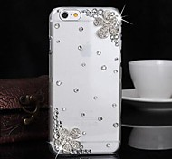 LUXURY Diamond Five Petaled Flowers Back Cover for iPhone 6