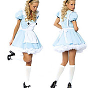 Classic Alice in Wonderland Blue Polyester Women's Halloween Costume