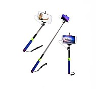 Extendable RC Self Timer Camera Monopod with 3.5mm Audio Cable and Phone Clip Holder for iPhone Samsung