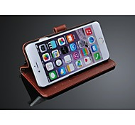 Fashion® Simple Style Genuine Leather wallet case for iphone 6  4.7 with Stand Card Slot (Assorted Color)