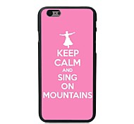 Elonbo® Keep Calm and Sing On Mountains Plastic Hard Back Cover for iPhone 6 Plus