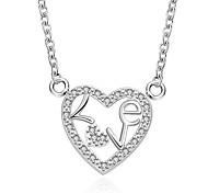 Женский Ожерелья-бархатки Ожерелья с подвесками Заявление ожерелья Кулоны Стерлинговое серебро Циркон Цирконий Драгоценный камень Мода