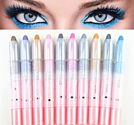 10PCS 2in1 Colorful Dazzling Shimmer Eye Shadow Pen&Eyeliner Set
