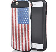 2 in 1 kleine hübsche Taille farbige britische Flagge Muster Hülle für das iPhone 6