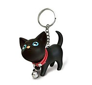 Lovely Silicone Small Cat KeyChain