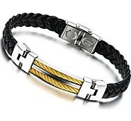 Women's  Fashion  Golden Rope Leather  Bracelet(Random Color)