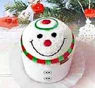 Birthday Gift Christmas Snowman Shape Fiber Creative Towel (Random Color)