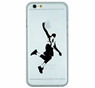 Slam Dunk Pattern PC Hard Transparent Back Cover Case for iPhone 6