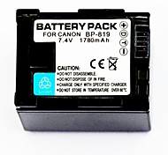 1780mah 7.4v видеомагнитофон аккумулятор BP-819 для Canon HF20 HF21 hfs11 HFS10 HF11