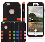 PC + Silica Gel 3 in 1 Design Shockproof Back Cover Case for iPhone 6 Plus (Assorted Colors)