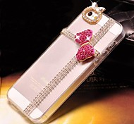 Pink Butterfly with Diamond Hard Back Cover  for iPhone 5 /  iPhone 5S