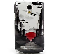 Sun City Pattern TPU Soft Back Cover for Samsung Galaxy S4Mini l9190