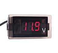 Vehicle-Mounted LED Display Voltmeter (Assorted Colors)