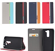 Three Color Design PU Leather Full Body Case with Stand for LG G2 Mini (Assorted Colors)