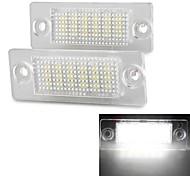 2 pcs blanc 18 LED 3528 éclairage de plaque numéro cms de licence lampe pour VW Passat B5