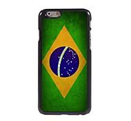 Vintage The Brazilian Flag Pattern Aluminum Hard Case for iPhone 6