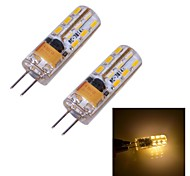 G4 W 24 SMD 3014 90~110 LM Warm White Bi-pin Lights DC 12 V