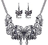 Women's Vintage Cut Out Butterfly Jewelry Sets Including Necklace&Earring