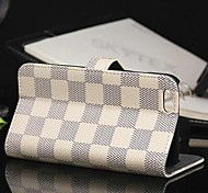 Fashion Plaid PU Leather Full Body Case with Stand And Card Slot for iPhone 6 (Assorted Colors)