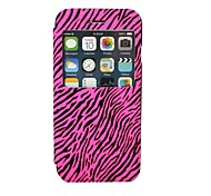 couro zebra pu com janela de exibição de sono para iphone 6 (cores sortidas)