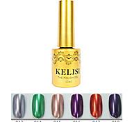 1pcs kelisi professionelle Metall UV Farbgel no.13-18 (12ml, Farbe sortiert)