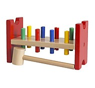 Multicolor Wood Toy Hammering Block Educational Toys