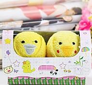 asciugamano creativo di compleanno regalo di pollo in fibra di forma (colore casuale)