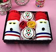 Christmas Gift Microfiber Snowman Brother Towel Set